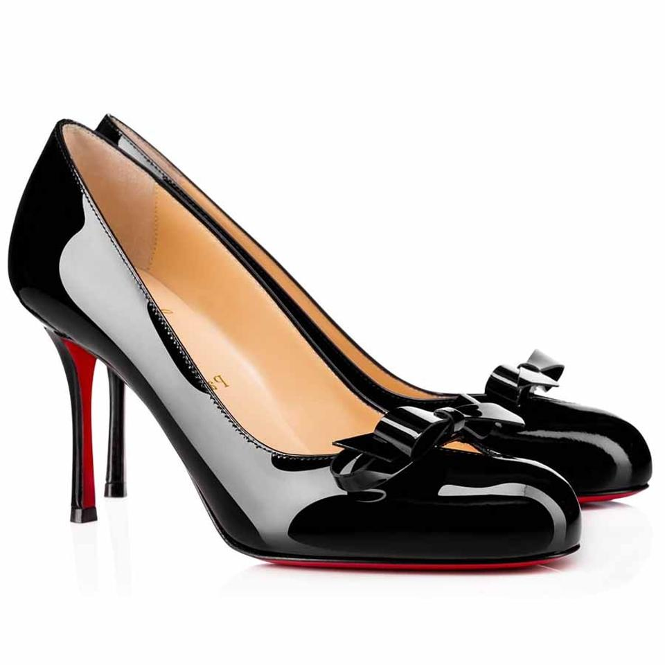 6e1f2f1bdbc6 Christian Louboutin Black Classic Vinodo 85mm Patent Leather Round-toe Now  Pumps