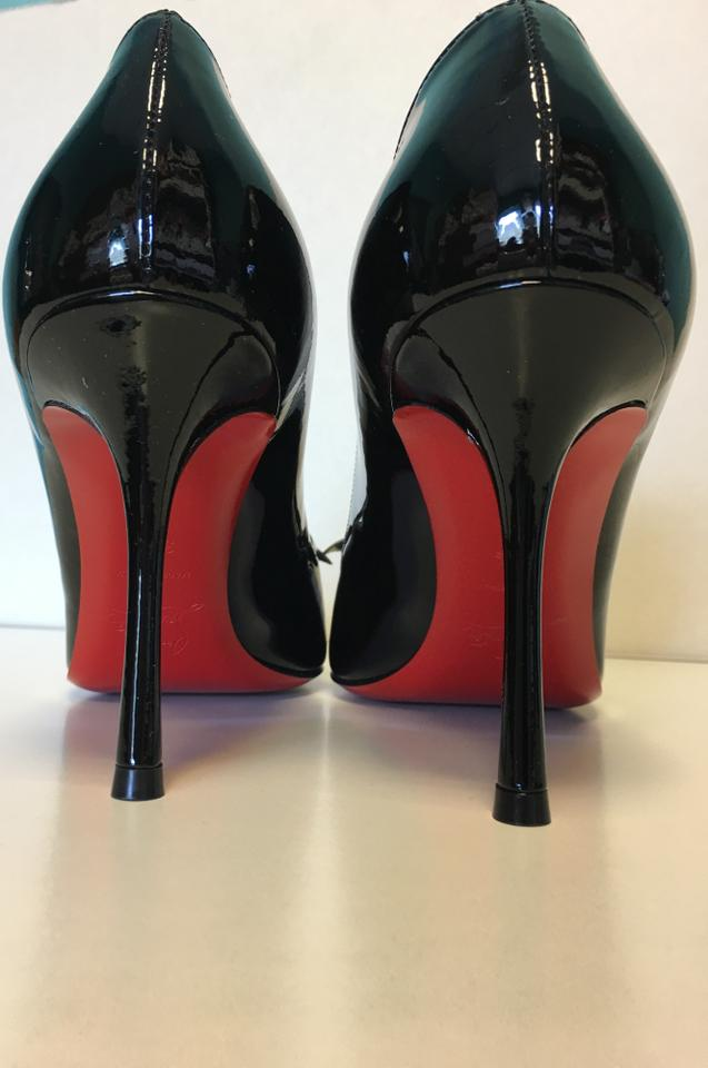 Christian 85mm toe Patent Round Pumps Vinodo Now Leather Black Louboutin Classic qAwnrPFAI
