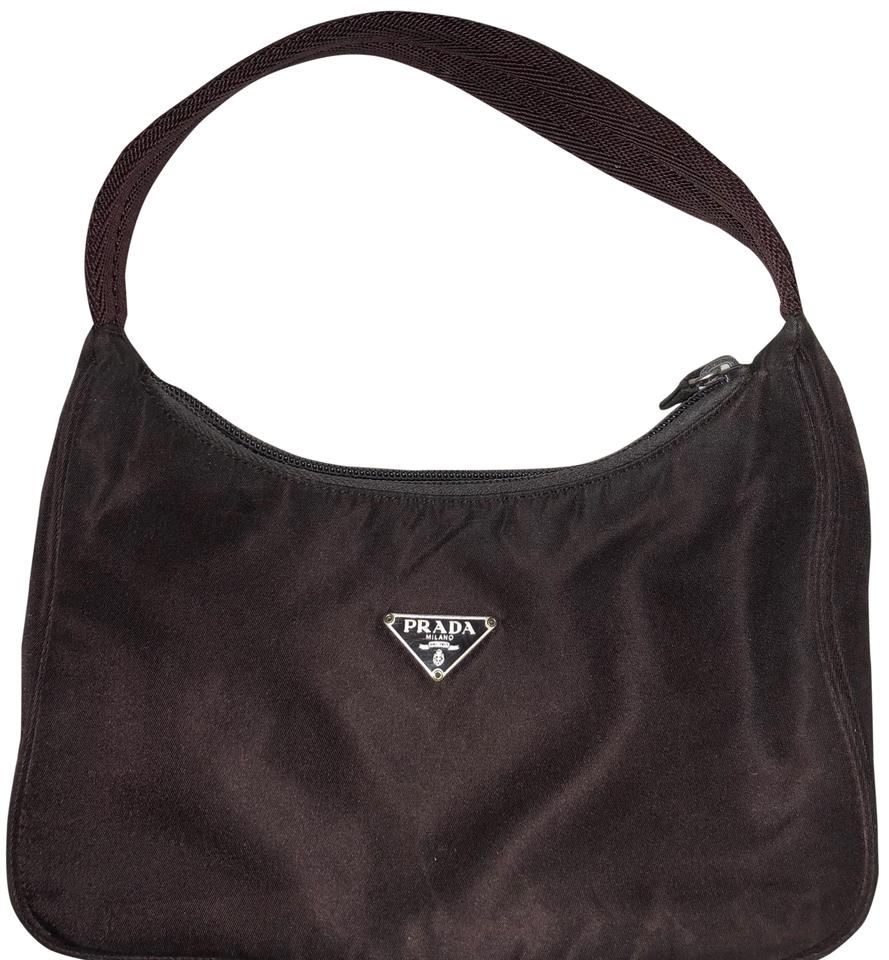 Plum Used Shoulder Slightly Prada Purse Nylon Bag 4ta0xqx