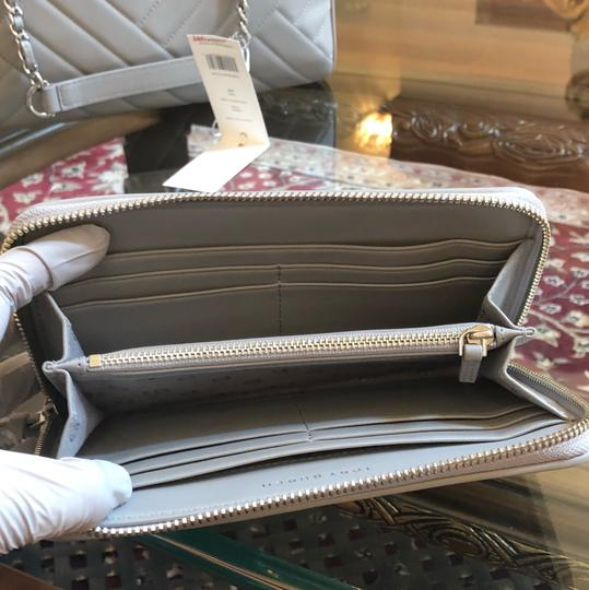 Tory Burch Quilted Lamb Leather Channel Large 2pcs Tote in cement (grey) Image 8