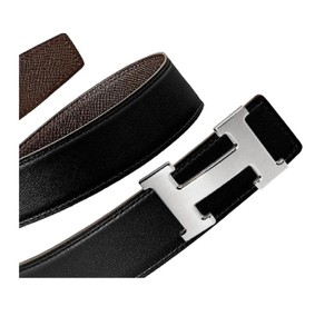 Hermès Constance 32mm Reversible Brown/Black H Siver Buckle 100 Belt