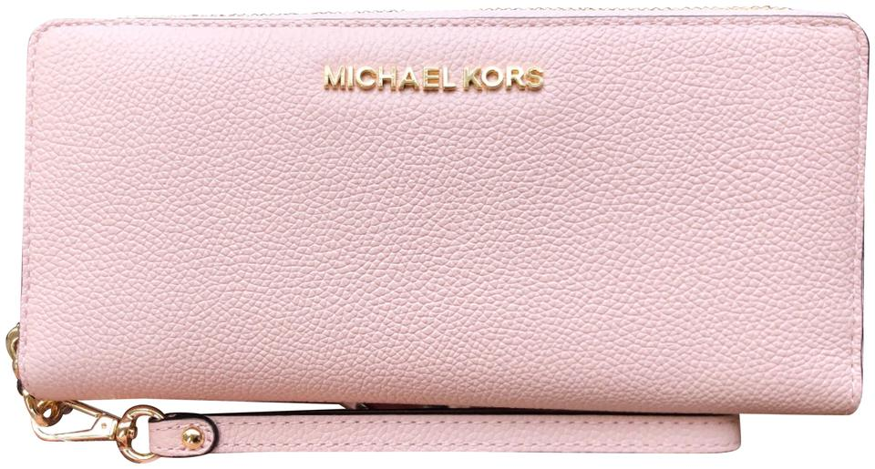 a95ce5ac238e Michael Kors Continental New With Tag Jet Set Wristlet in Ballet Pink Image  0 ...