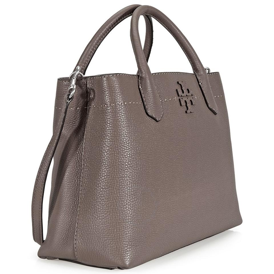 7b3d67472f80 ... Maple Leather Mcgraw Satchel Silver Compartment Tory Burch Triple Tote  fwAxqBYa ...