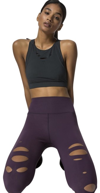 Item - Eggplant High-waist Ripped Warrior Activewear Bottoms Size 8 (M, 29, 30)