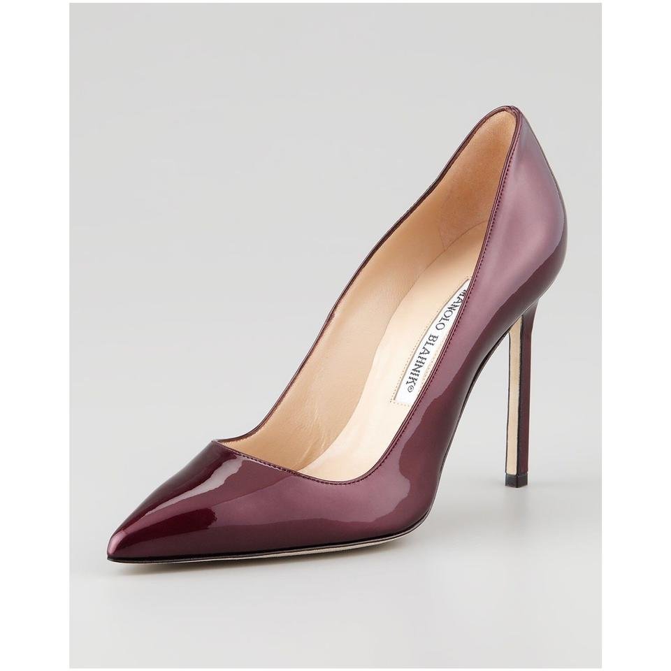 c0a3ab051e84 Manolo Blahnik Burgundy Wine Classic Bb 105mm Patent Point-toe High-heel  Pumps
