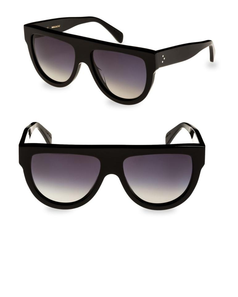 6af9ff4cd66 Céline NEW Black Aviator Sunglasses Image 0 ...