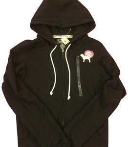 484625a933c93 Victoria's Secret Black+pink+white New Stylish Pink Soft Fleeces Bling  Crown Hooded Full-zip Activewear Outerwear Size 8 (M)
