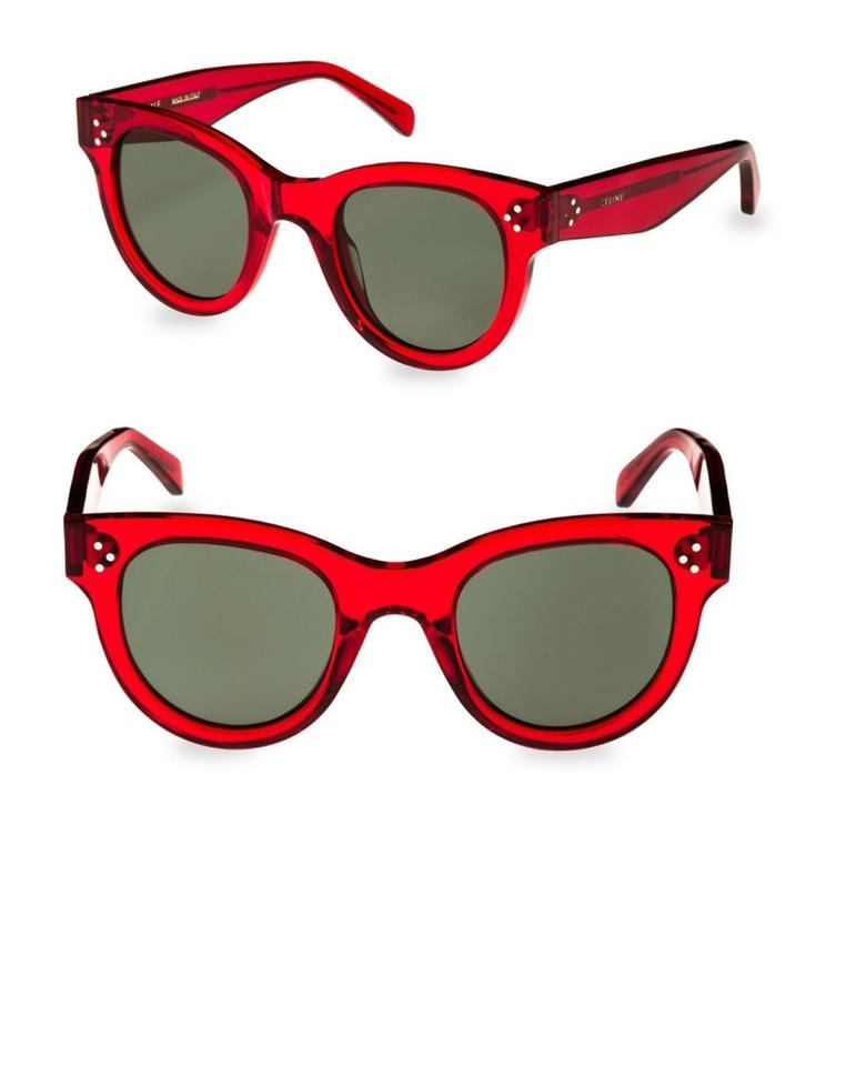 d04d2b90700 Céline Red New Round Black Sunglasses - Tradesy