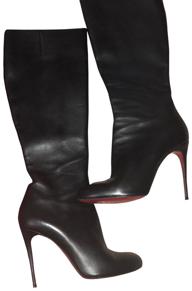 pretty nice efabf d7f5b Christian Louboutin Black Botalili 120 Boots/Booties Size EU 39.5 (Approx.  US 9.5) Regular (M, B) 42% off retail