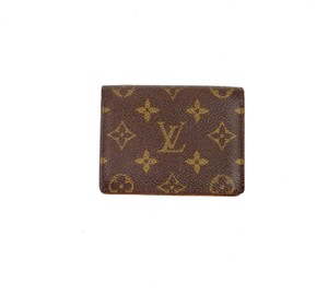 Louis Vuitton Vintage Business Card ID Monogram Canvas Leather Wallet Case