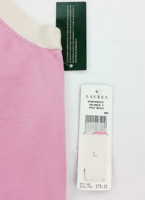 Ralph Lauren Offwhite Knit Sexy Top pink Image 1