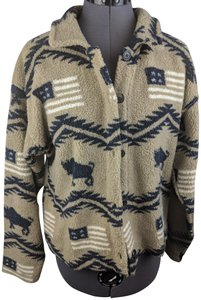 True Grit Americana Fleece Fleece Beige Jacket