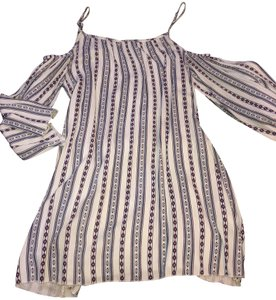 31ab9c95df42 Elan short dress White blue and red Coldshoulder Pattern Cute Tunic on  Tradesy