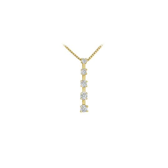Preload https://img-static.tradesy.com/item/23774905/white-cubic-zirconia-journey-pendant-18k-yellow-gold-vermeil-050-ct-czs-necklace-0-0-540-540.jpg