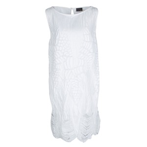 Fendi short dress White Distressed Sleeveless on Tradesy