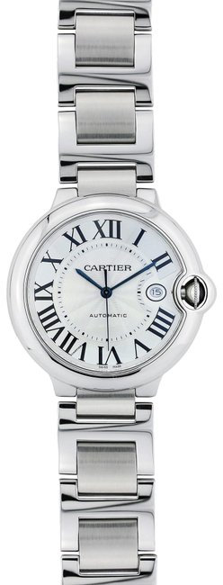 Item - Silver Ballon Bleu Stainless Steel Large Size Stainless Steel Watch