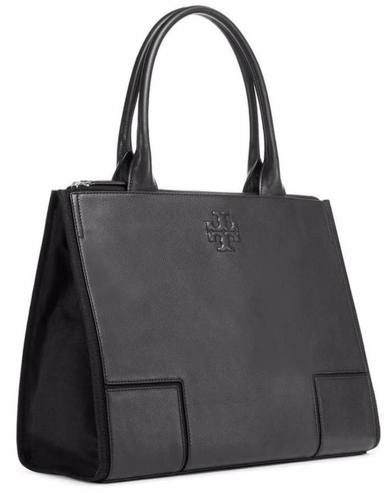 c4dabcc76a6 Tory Burch Leather Shoulder Work Tote in black Image 0 ...