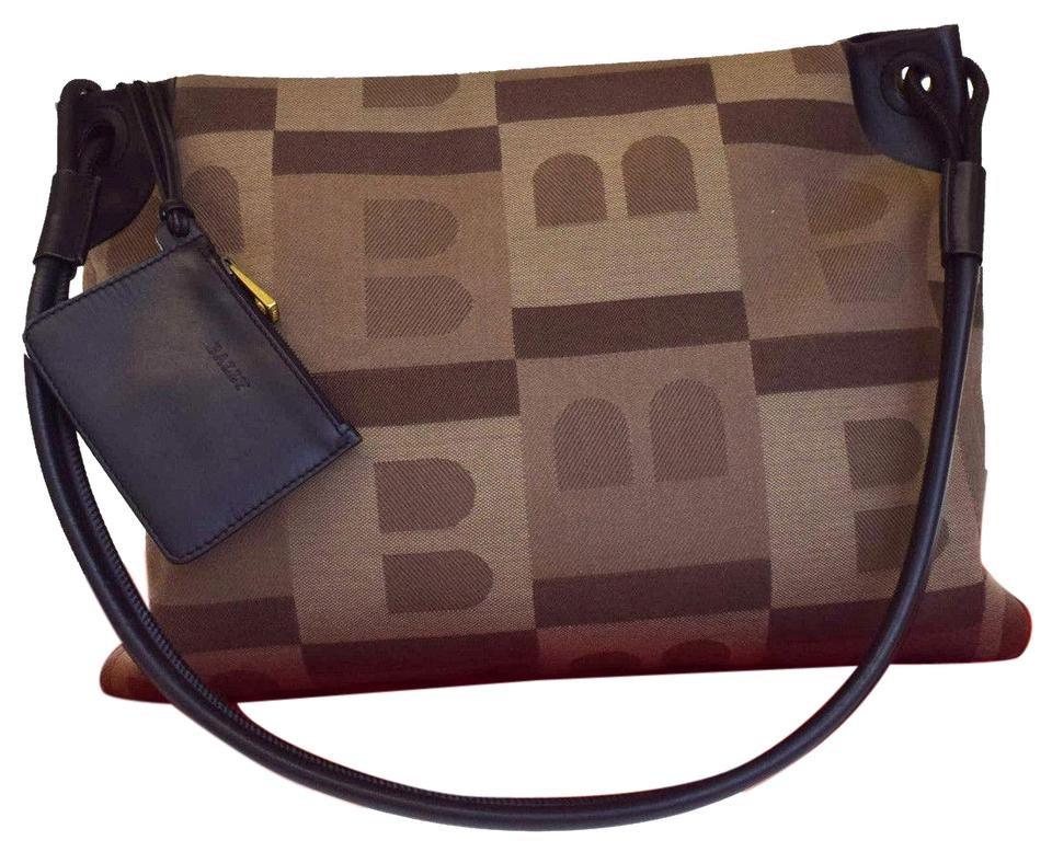Bally Logos In Italy Brown Canvas Leather Shoulder Bag - Tradesy 43f8c1cc5168d