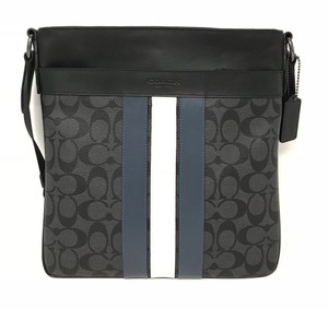 Coach Canvas/Leather F26068 Midnight Navy Messenger Bag