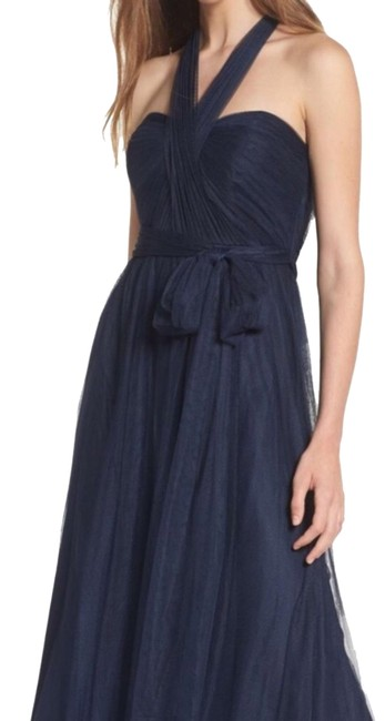 Item - Blue Annabelle Convertible Tulle Column Long Night Out Dress Size 10 (M)