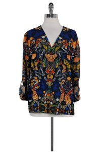 Alice + Olivia Butterfly Print Top