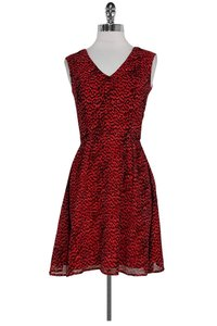 French Connection short dress red Animal Print on Tradesy