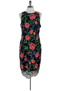 Alexia Admor short dress black Mesh And Floral Embroidered on Tradesy