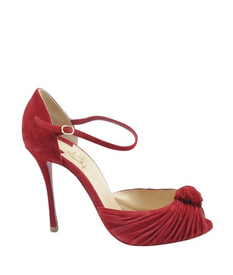 Christian Louboutin Heels Suede Red Pumps Image 2