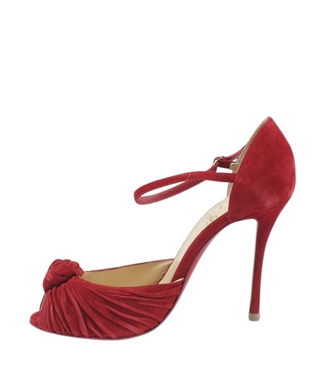 Christian Louboutin Heels Suede Red Pumps Image 3