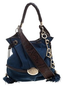 Lancel Suede Bardot Hobo Bag
