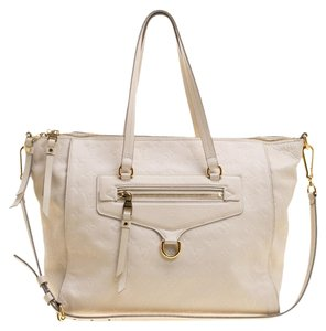 Louis Vuitton Monogram Leather Canvas Tote in Beige