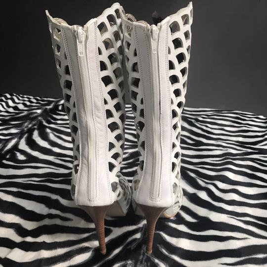 Peace & Love White Boots Image 3
