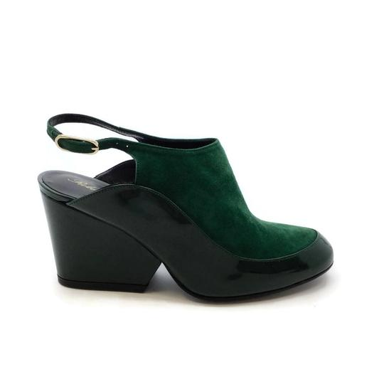 Robert Clergerie Green Wedges Image 1