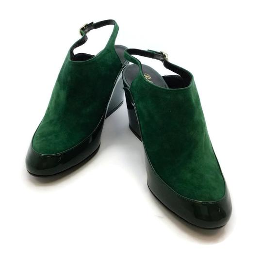 Robert Clergerie Green Wedges Image 5