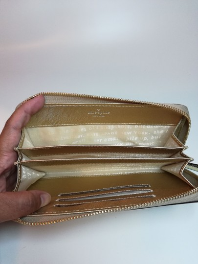 Kate Spade Small Wallet Wristlet in Gold Image 4