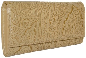 Etro ETRO WALLET PAISLEY EMBOSSED LEATHER CONTINENTAL NEW WOMENS