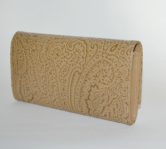 Etro ETRO WALLET PAISLEY EMBOSSED LEATHER CONTINENTAL NEW WOMENS Image 1
