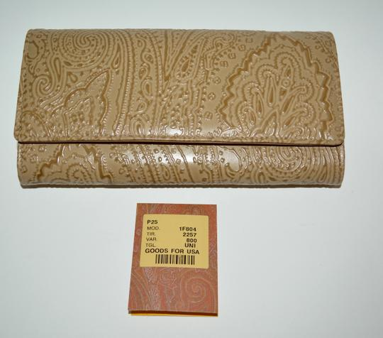 Etro ETRO WALLET PAISLEY EMBOSSED LEATHER CONTINENTAL NEW WOMENS Image 4