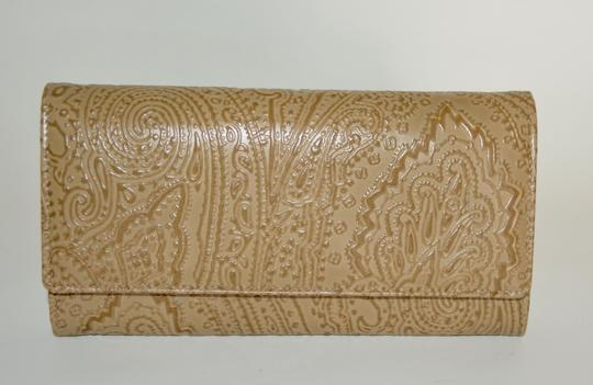 Etro ETRO WALLET PAISLEY EMBOSSED LEATHER CONTINENTAL NEW WOMENS Image 5