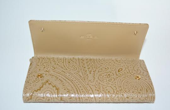 Etro ETRO WALLET PAISLEY EMBOSSED LEATHER CONTINENTAL NEW WOMENS Image 6