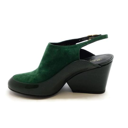Robert Clergerie Green Wedges Image 2