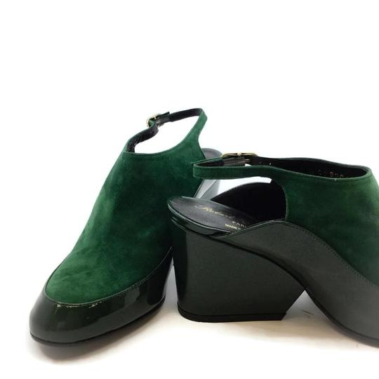 Robert Clergerie Green Wedges Image 6