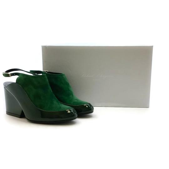 Robert Clergerie Green Wedges Image 9