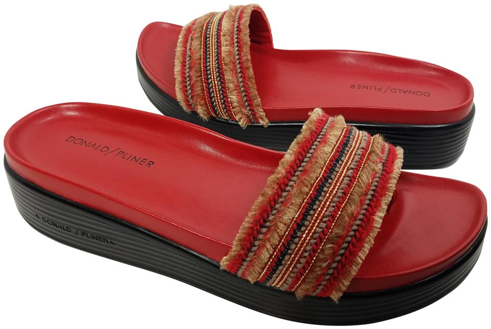 9efd60f29008 Donald J. Pliner Red Fiji Leather Slide Sandals Size US 9.5 Regular ...