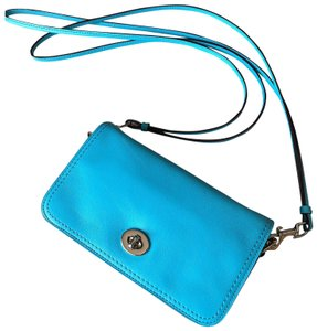 Coach Leather Silver Hardware Cross Body Bag