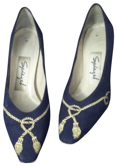 Preload https://img-static.tradesy.com/item/23776721/spiegel-blue-and-gold-with-trim-decorative-suede-pumps-size-us-55-regular-m-b-0-1-540-540.jpg