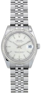 Rolex Rolex Stainless Steel Ladies Midsize Watch Jubilee Band Fluted Bezel 1