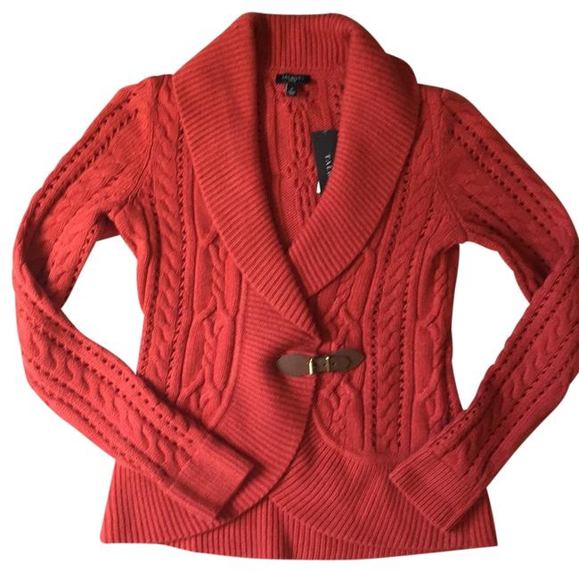 Preload https://img-static.tradesy.com/item/23776754/talbots-burnt-orange-leather-buckle-cable-cardigan-sweaterpullover-size-petite-2-xs-0-1-650-650.jpg