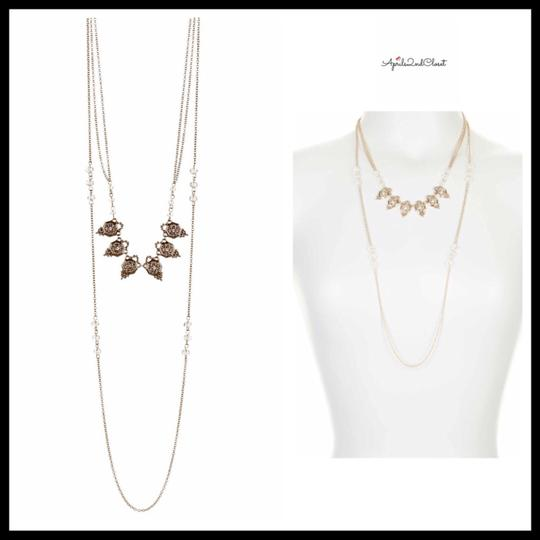Steph&co LAYERED STRAND DAINTY CRYSTAL BEADED NECKLACE Image 2
