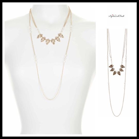 Steph&co LAYERED STRAND DAINTY CRYSTAL BEADED NECKLACE Image 5